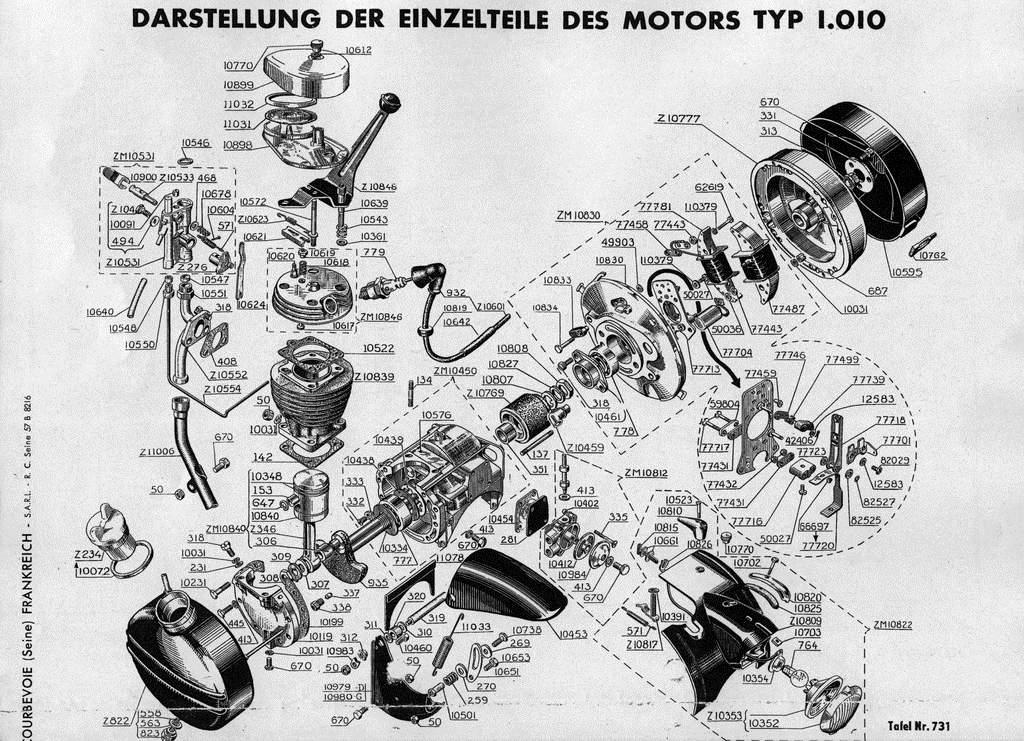 schema moteur solex 1700