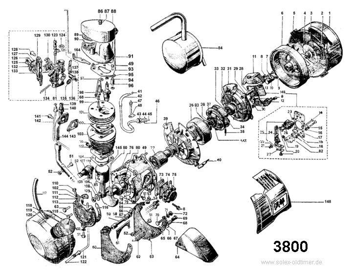 eclate moteur solex 3300